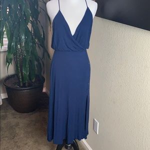 Lulu's blue midi dress M